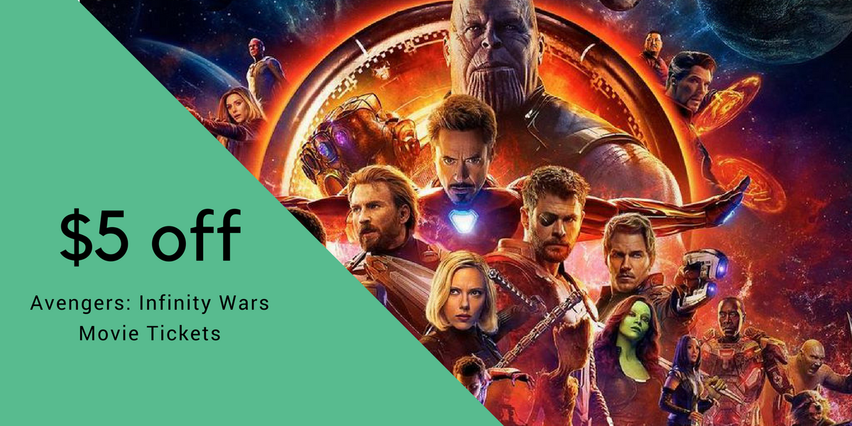 5 off avengers movie tickets southern savers for Tour avengers