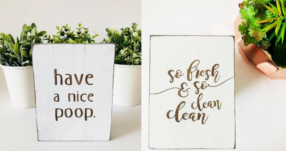 Jane.com Deal | Funny Bathroom Signs for $14.99 Shipped