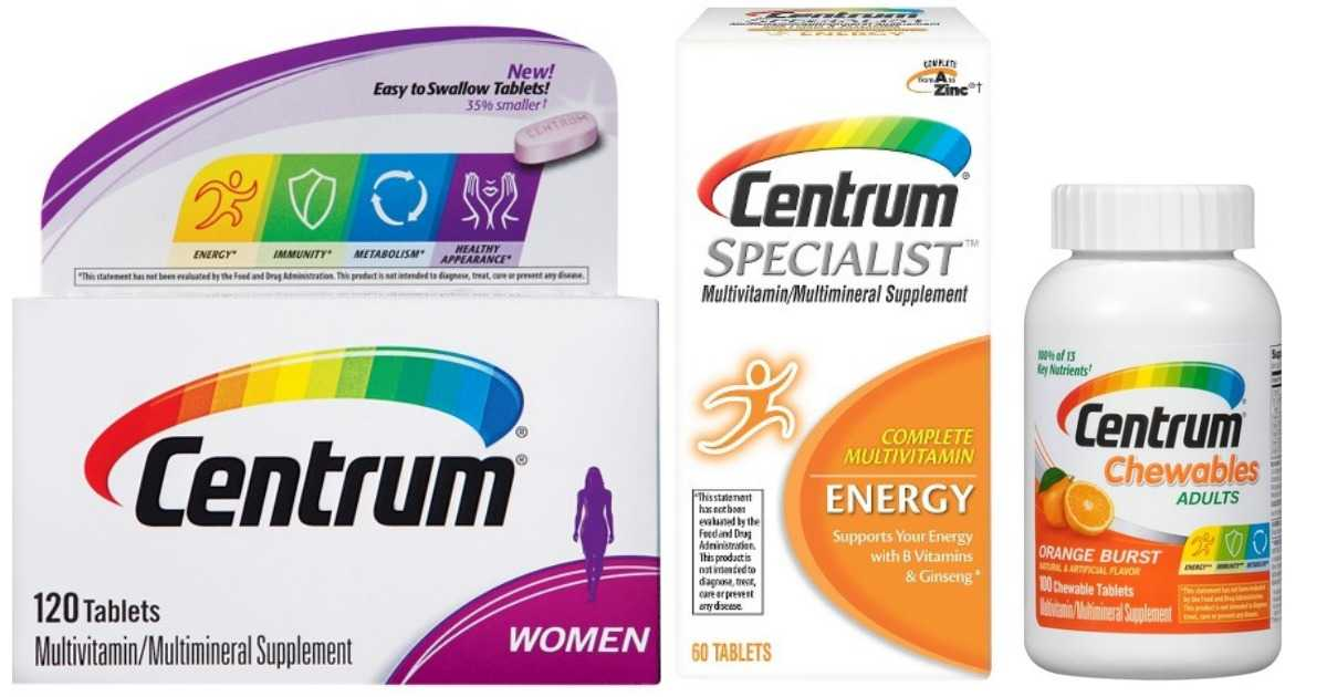 Centrum Coupon Vitamins For 4 09 Each Southern Savers