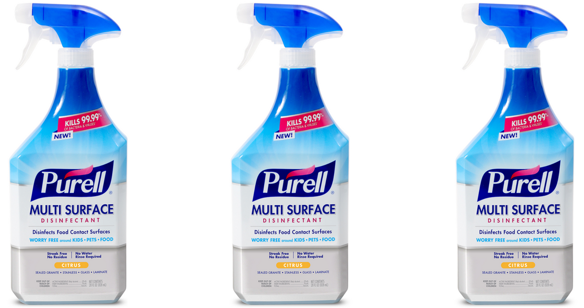 picture relating to Purell Printable Coupons identify Purell Coupon Multi-Appear Disinfectant Spray for $1.04