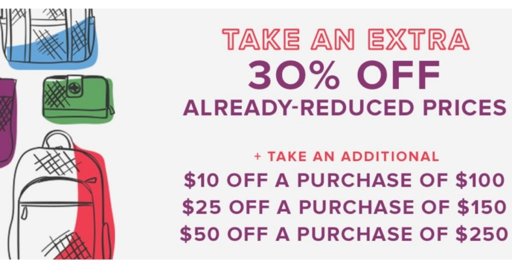Head over to the Vera Bradley Online Outlet where you can get 30% off your  entire purchase. 764f79732cfaa