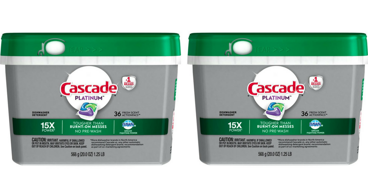 image about Cascade Coupons Printable identified as Cascade Coupon Generates Platinum ActionPacs $6.49 :: Southern