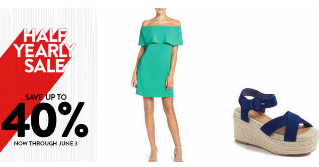 4975d223b107 Nordstrom is offering their Half Yearly Sale with up to 40% off plus free  shipping. Grab some new clothes for summer or a new purse or accessory.