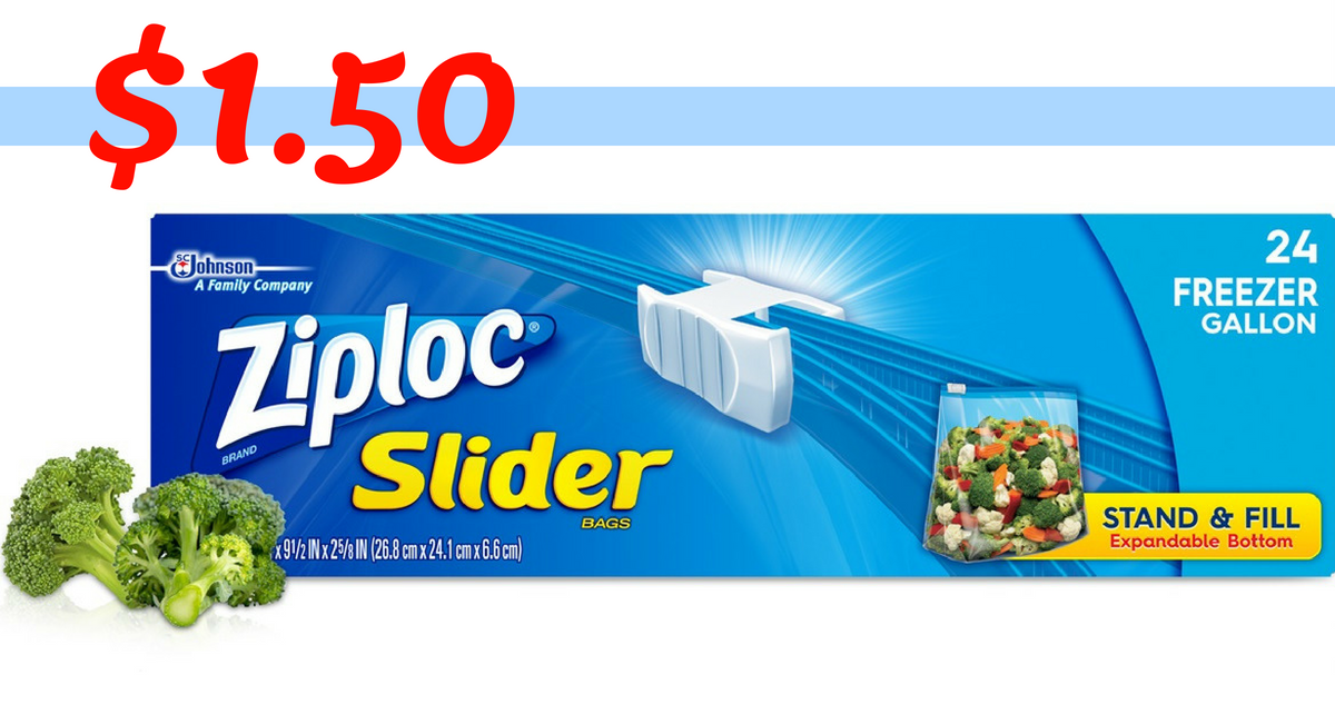 image relating to Ziploc Printable Coupons referred to as Ziploc Coupon Results in Ziploc Slider Luggage $1.50 :: Southern