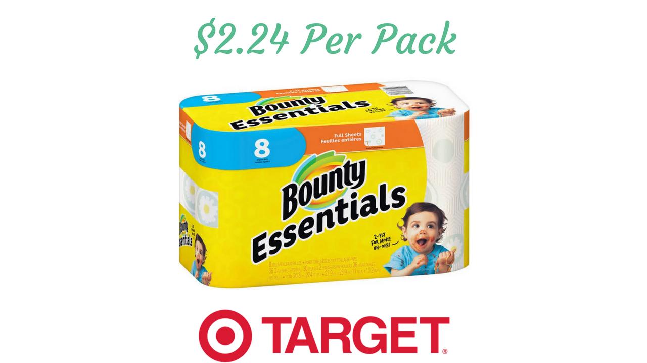 Bounty Coupon Essentials Paper Towels 2 24 Per Pack At