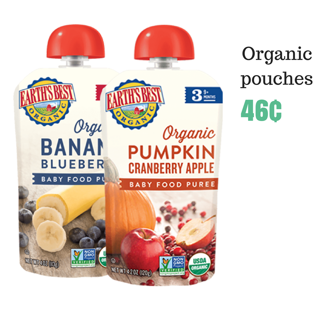 Earth S Best Coupon Organic Baby Food Pouches 46 162 At