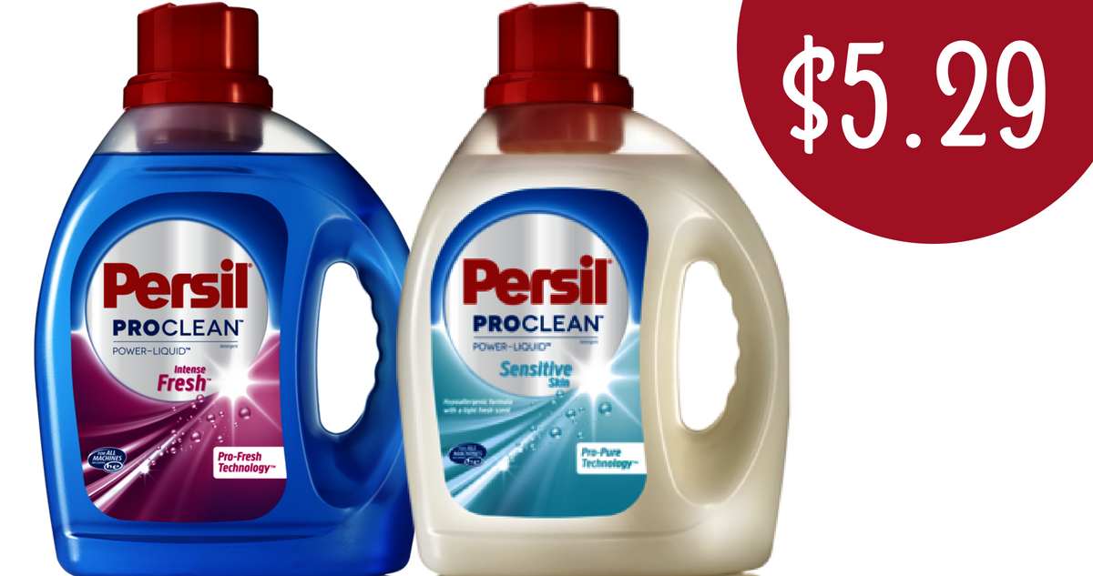 photograph about Printable Persil Laundry Detergent Coupons known as 100 oz Bottle Persil ProClean Laundry Detergent for $5.29