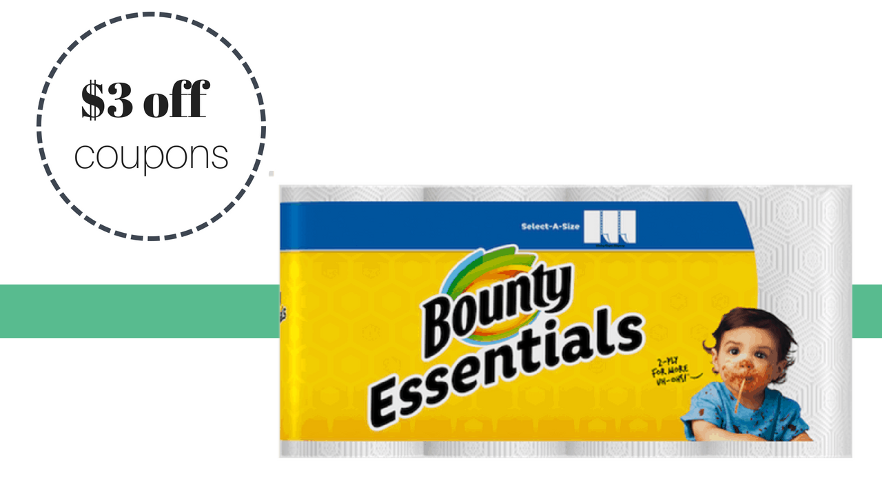 $3 off bounty basic paper towels = $2.74 a pack :: southern savers