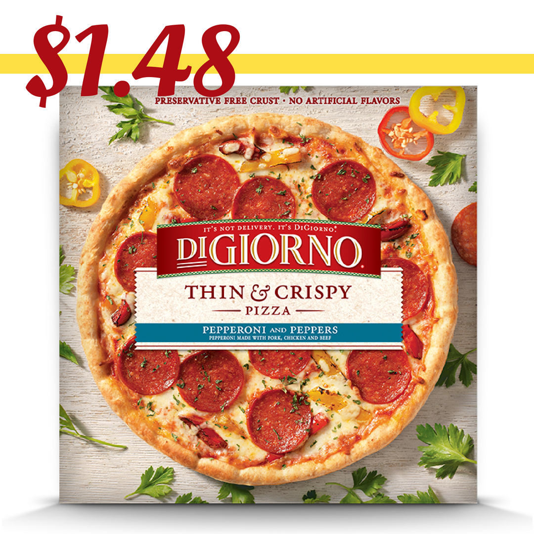 photograph relating to Digiorno Printable Coupon identify DiGiorno Coupon Generate Slender Crispy Pizza $1.48 :: Southern