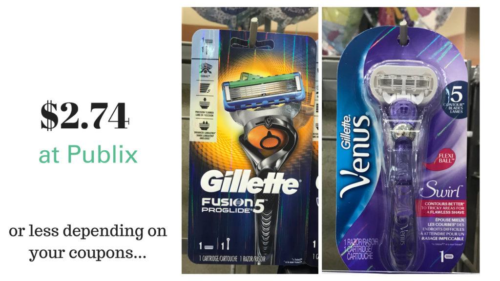Super Cheap Gillette Razors At Publix Southern Savers