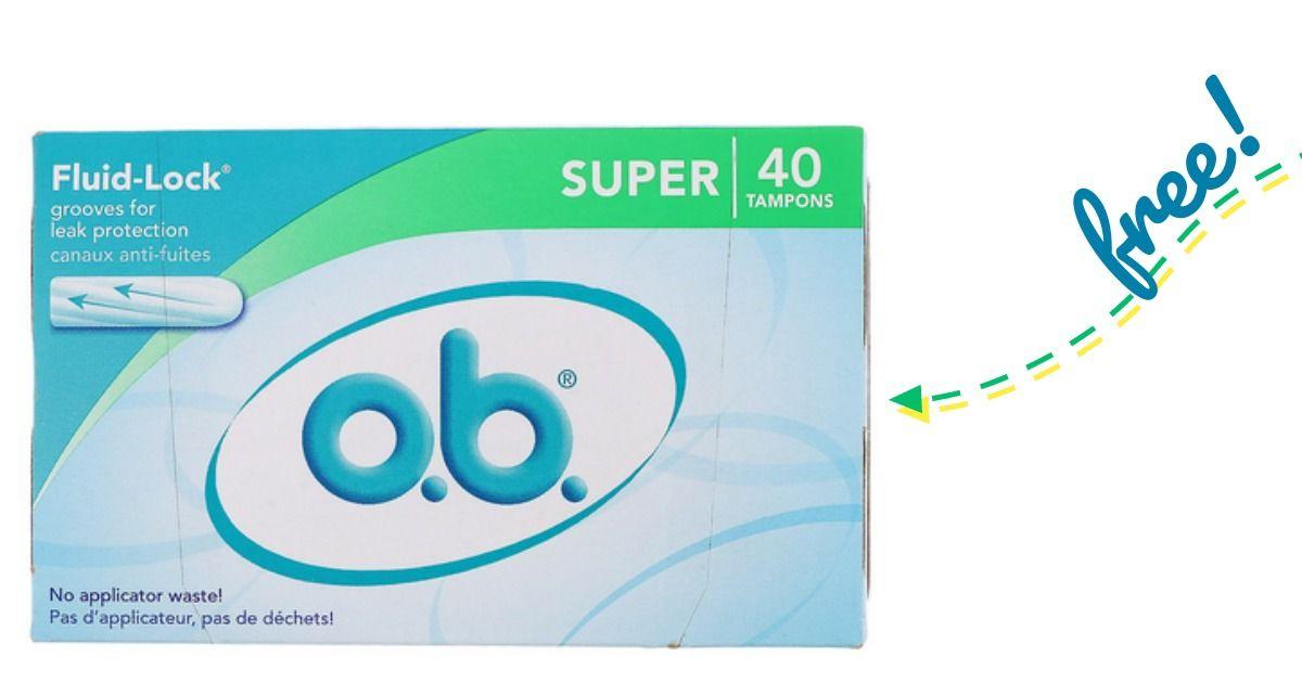 Ob tampons free sample