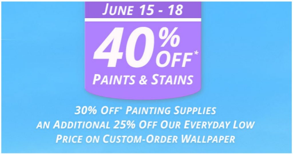 Sherwin williams 40 off paints stains southern savers for Southern paint supply