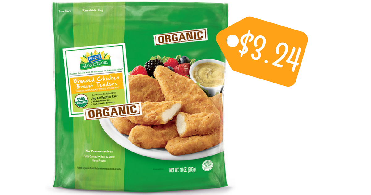 Perdue Coupon | Organic Breaded Chicken Tenders for $3.24