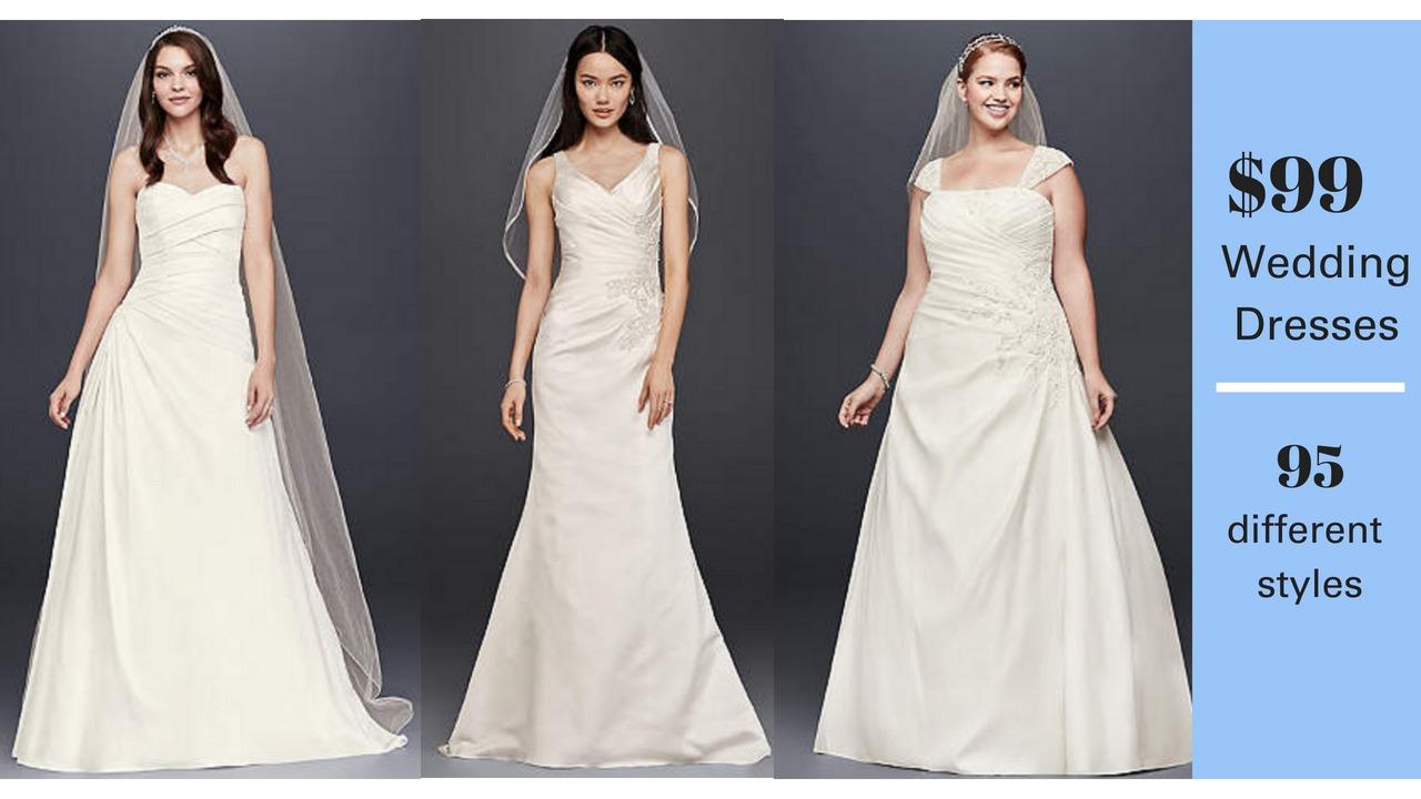 99 wedding dresses at david 39 s bridal reg 300 1800 for High end designer wedding dresses