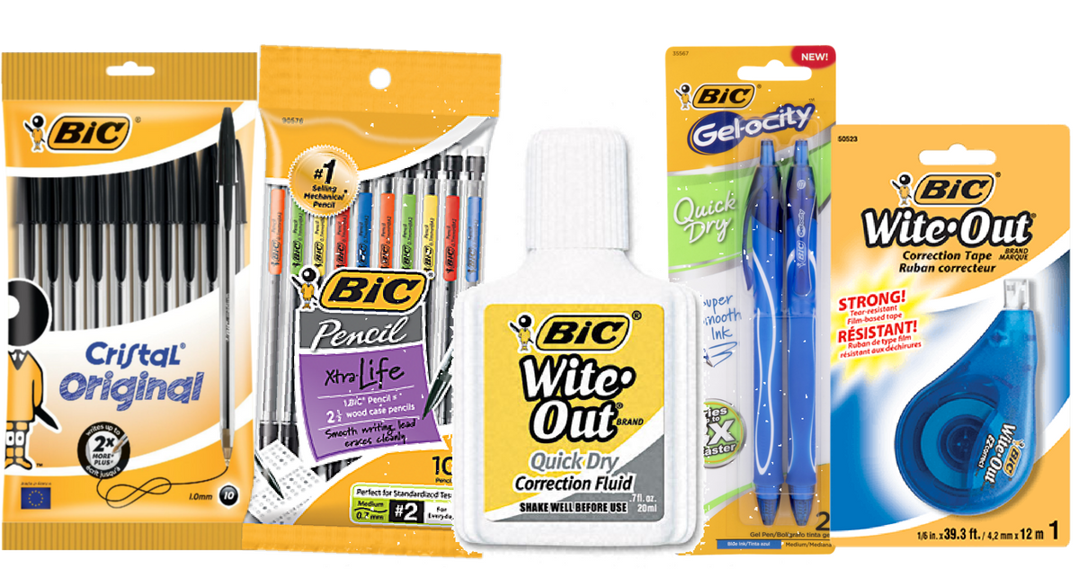 photograph relating to Bic Printable Coupons named Contemporary BiC Stationery Items Coupon + Loads of Offers