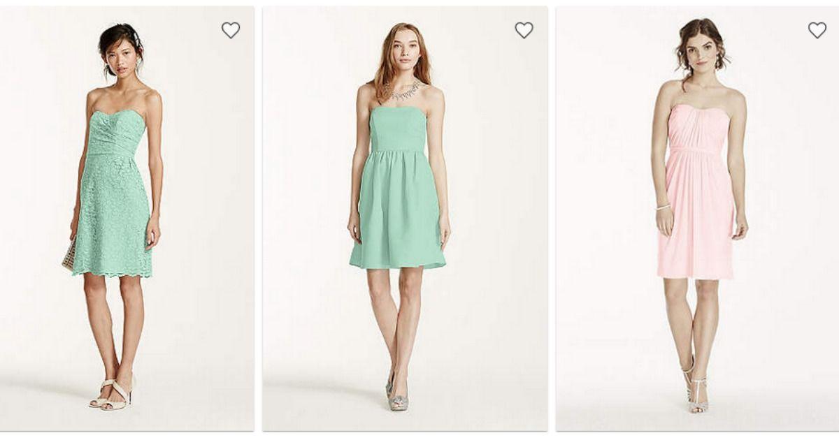 David\'s Bridal: $19.99 Bridesmaid Dresses :: Southern Savers