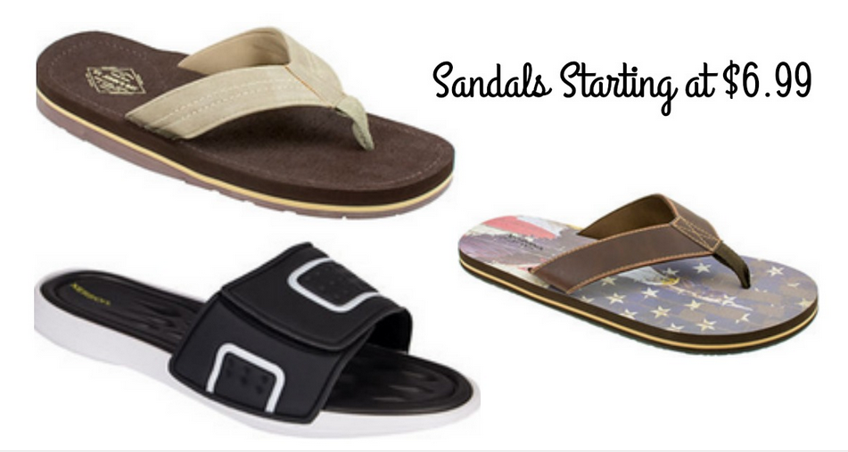 a323bb3f862c Head over to JCPenney where they are offering up to 70% off men s sandals  and flip flops. Choose from popular brands including Dockers