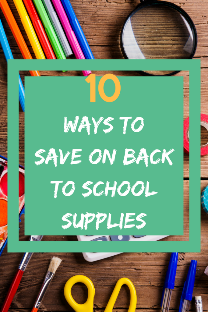 ways to save back to school supplies