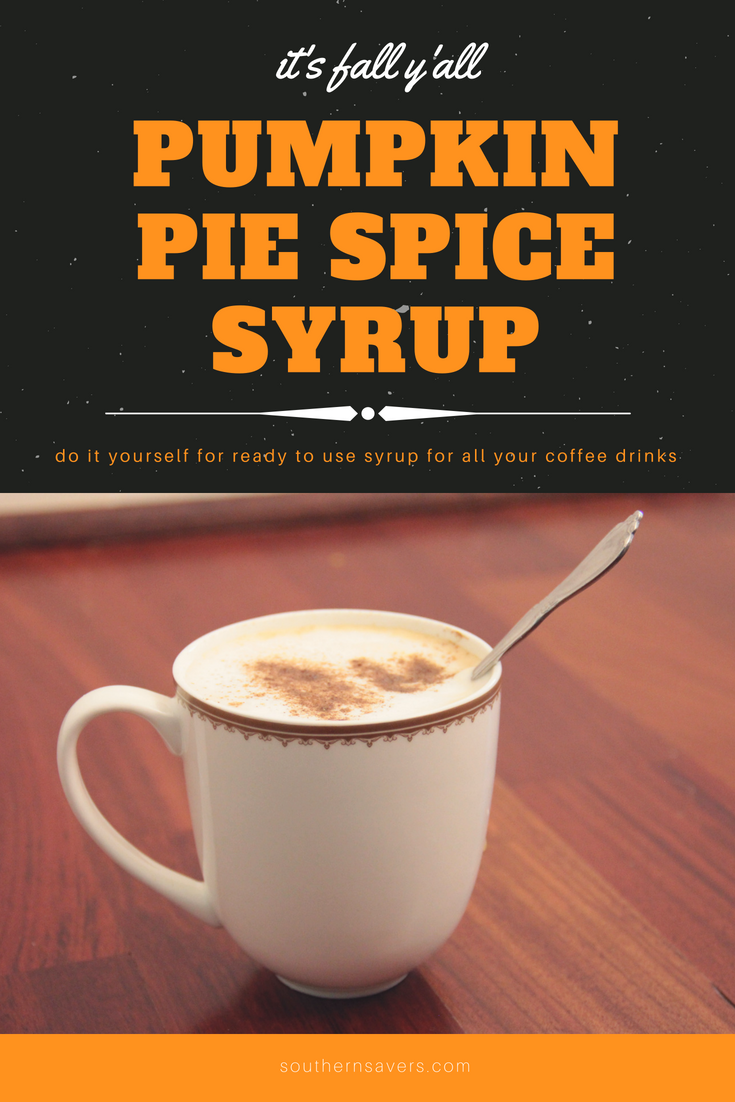 Pumpkin Spice Syrup Recipe for Coffee!