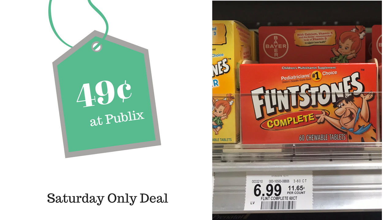 Saturday Only 49 Flintsones Vitamins At Publix Southern Savers Wet N Wild Megalast Flintstones Coupon