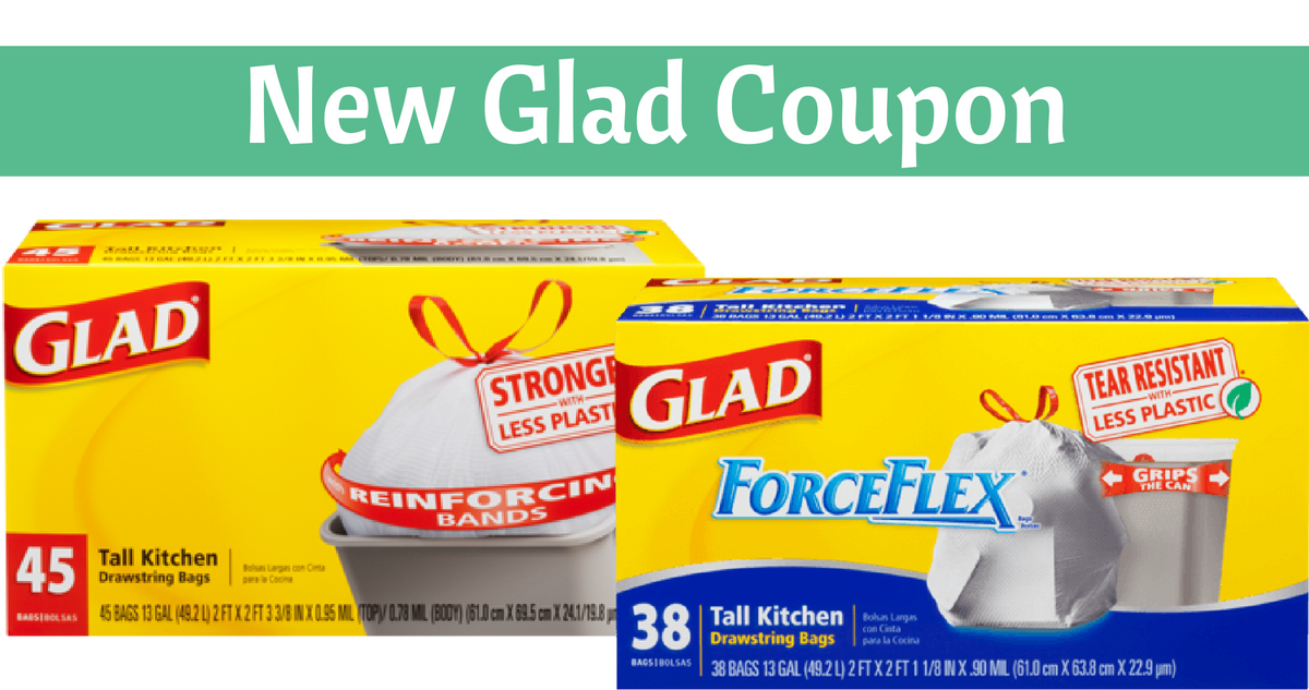 picture relating to Glad Trash Bags Printable Coupon referred to as Clean Happy Coupon + Trash Bag Bargains :: Southern Savers