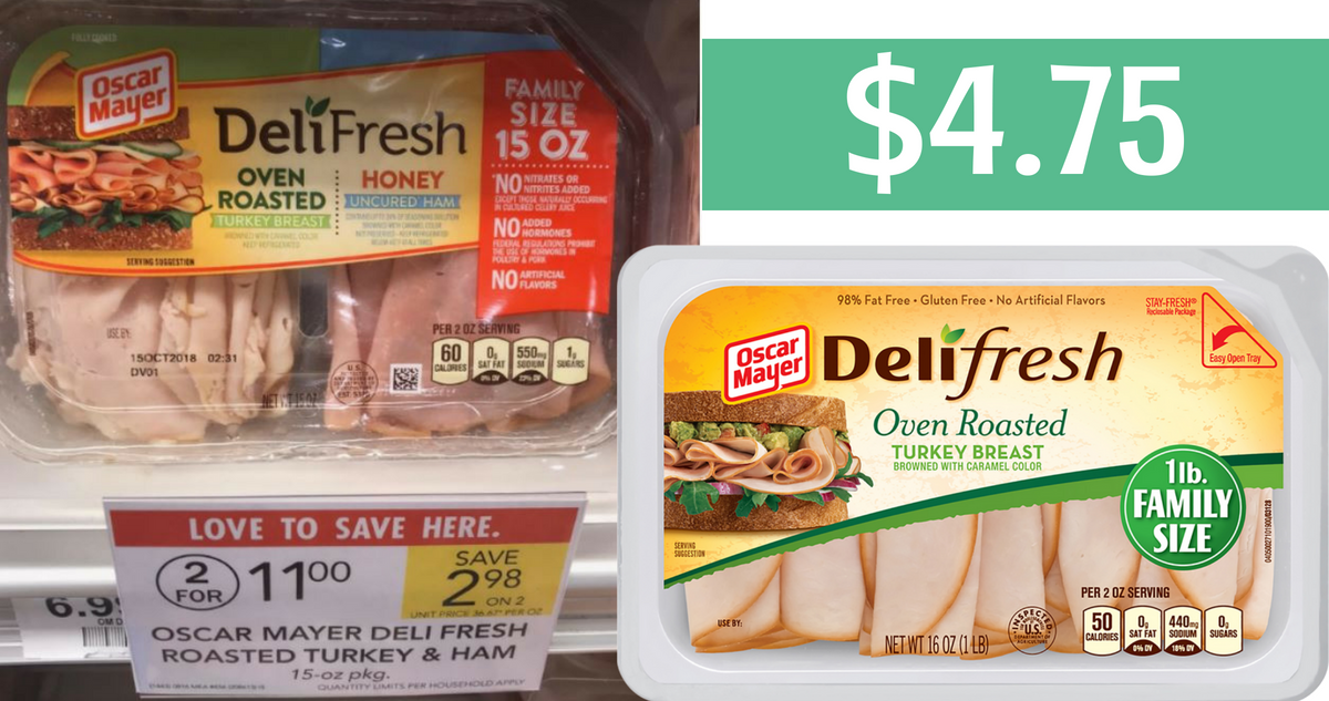 36aecef6bd13 Oscar Mayer Deli Fresh Family Pack for $4.75 :: Southern Savers
