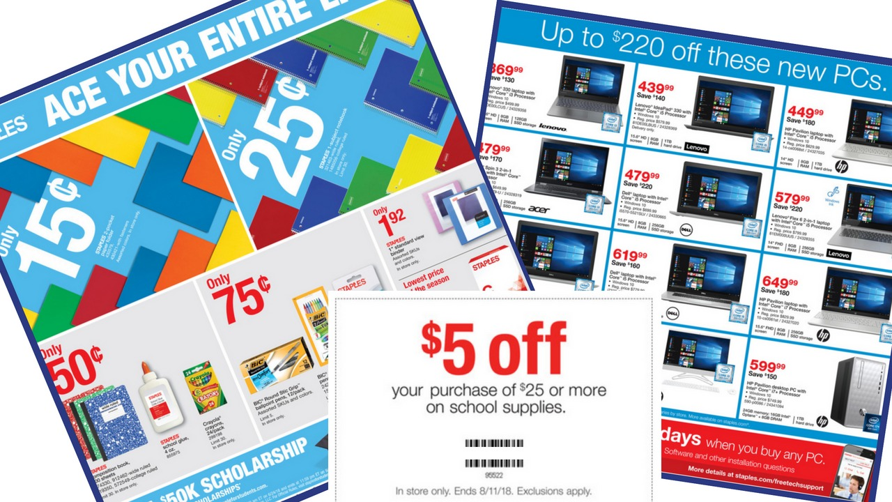 Staples monitor coupons