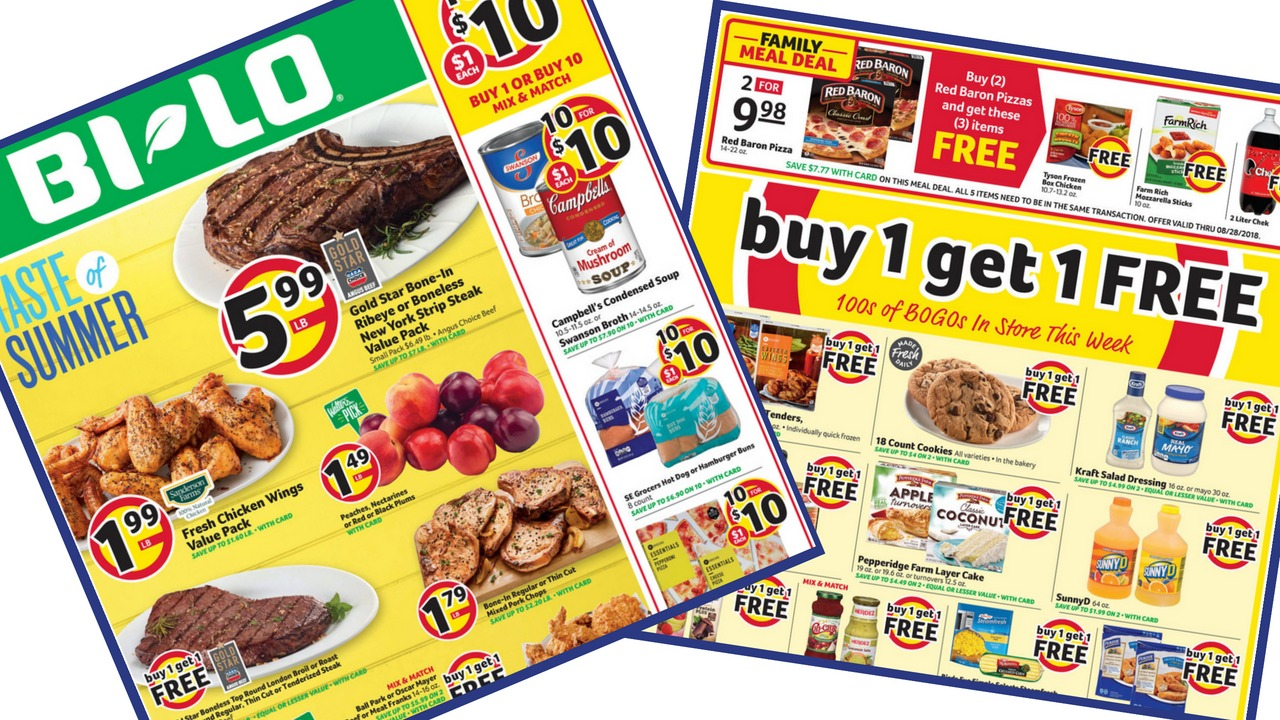 Here Are All The Deals In Bi Lo Ad Starting Wednesday 8 22 Plus Coupons I Know Of To Go With Them Its A Smaller This Week