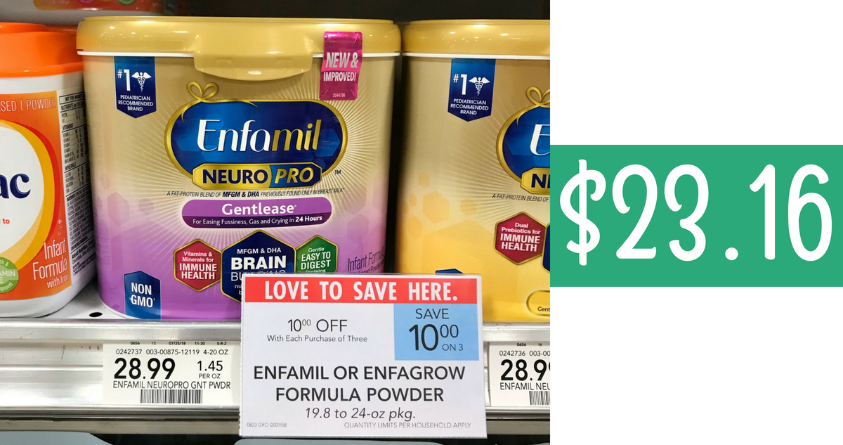 photograph regarding Printable Enfamil Coupon known as Enfamil Discount codes Produces Components $23.16 Each and every :: Southern Savers