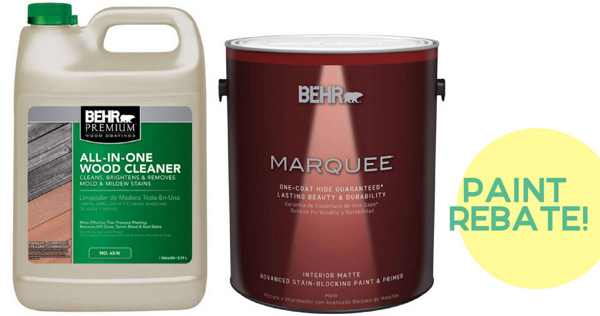 Free Behr Stain After Rebate At Home Depot More: Get Free Behr Wood Cleaner