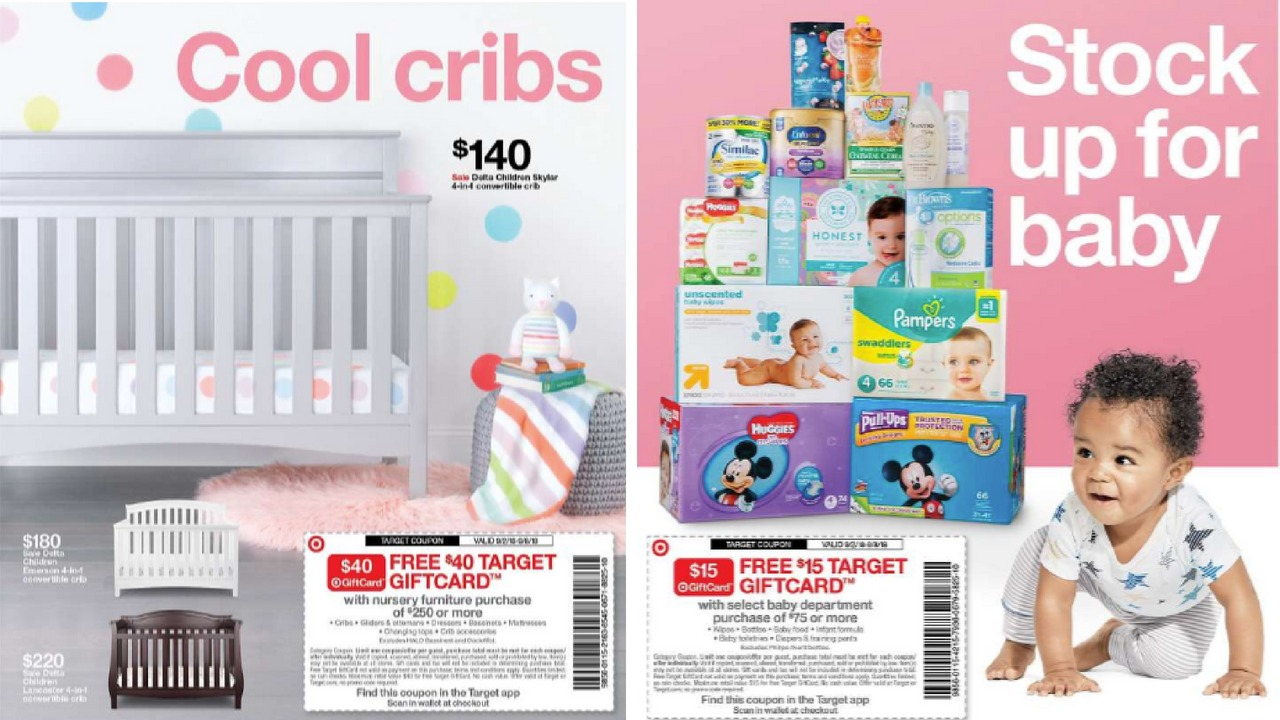 Target Baby Gift Card Coupons Diapers Formula Furniture