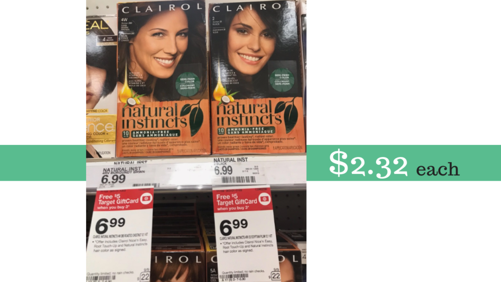 Clairol Hair Color Coupon Target Gift Card Deal Southern Savers