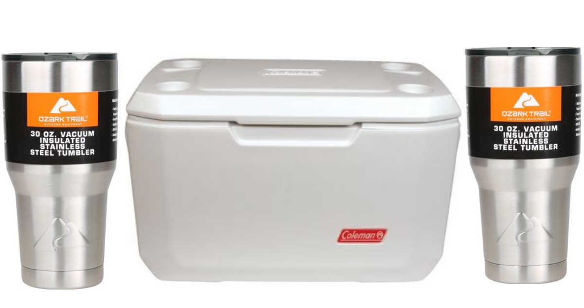 Coleman Xtreme Cooler + 2 Ozark Trail Tumblers For $37.46 Shipped