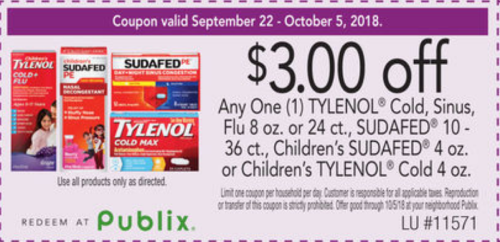 picture regarding Tylenol Printable Coupon referred to as Tylenol Childrens Chilly Advil Allergy $1.49 at Publix