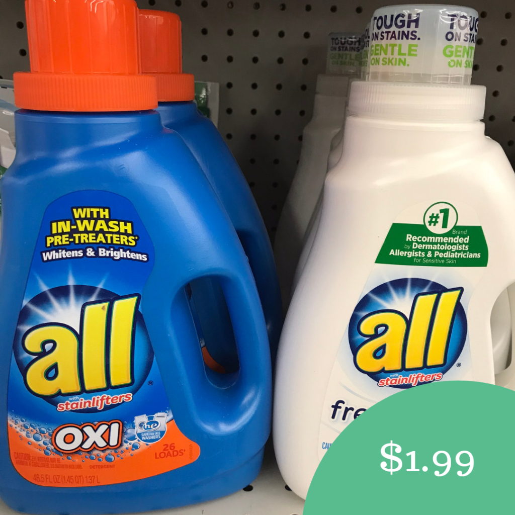 photograph about All Laundry Detergent Printable Coupons named Contemporary All Detergent Coupon $1.99 For each Bottle at A lot of