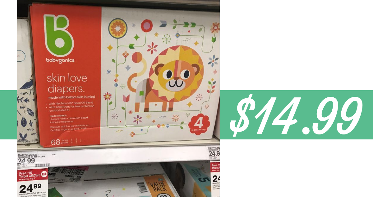 image relating to Babyganics Coupon Printable named Babyganics Coupon $10 off Natural and organic Diapers :: Southern Savers