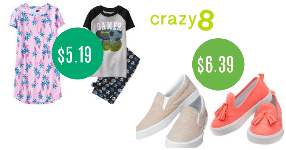 ff0bec8ab Right now, you can get an extra 20% off everything at Crazy 8. You can get  kids' sneakers for $6.39 or two-piece pajama sets for $5.19 with code  FALLGOOD.