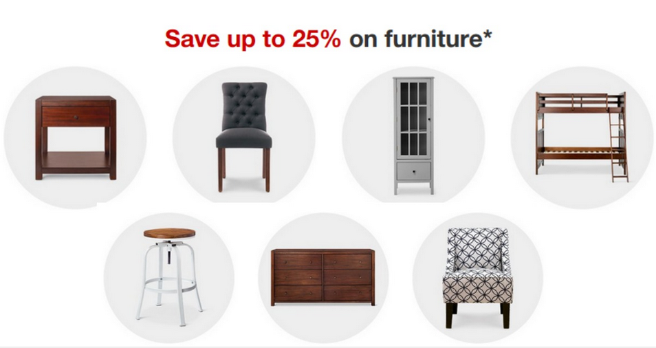 Target Sale 25 Off Furniture Extra 15 Off Coupon Southern