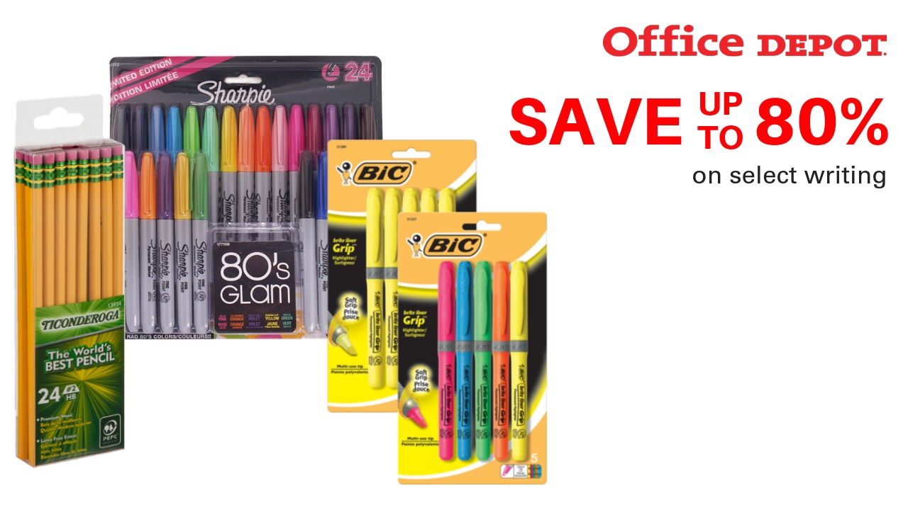 Office Depot School Supply Clearance