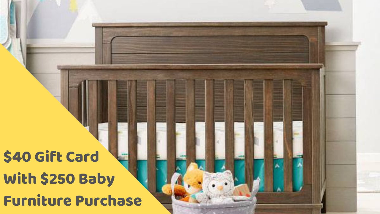 Target Deal 40 Gift Card With 250 Baby Furniture Purchase