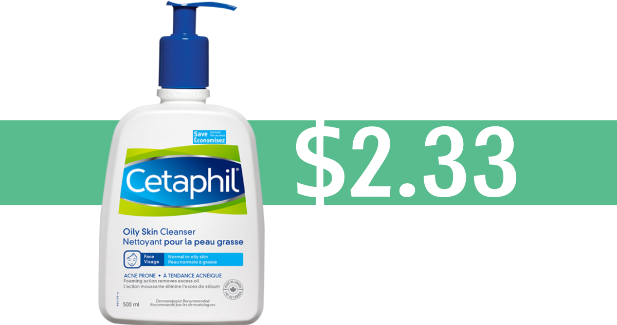 picture about Cetaphil Coupons Printable named Cetaphil Coupon Can make Every day Cleanser $2.33 :: Southern Savers