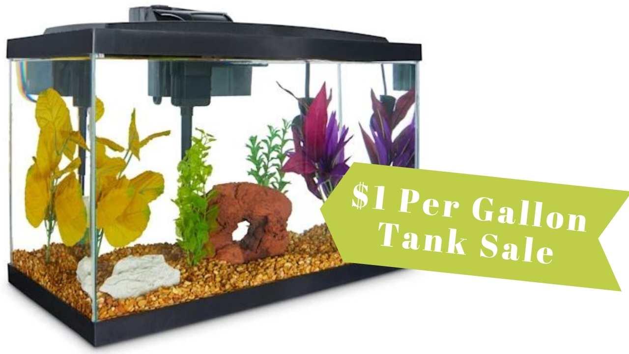 dollar per gallon tank sale