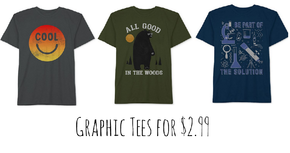 7171832c0 Macy's is offering 70% off boys graphic tees. You can choose from over 50  styles starting at $2.99 each. Do note that additional coupon codes cannot  be used ...