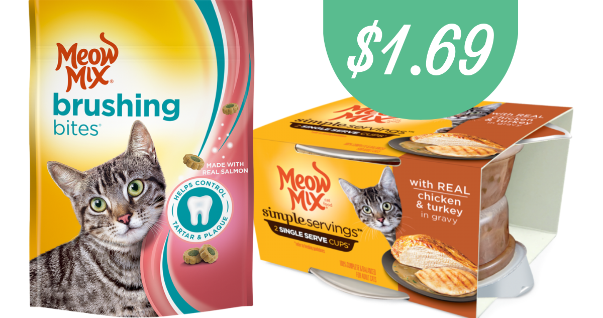 image about Meow Mix Coupon Printable identify Meow Incorporate Discount codes Generates Cat Foods $1.69 :: Southern Savers
