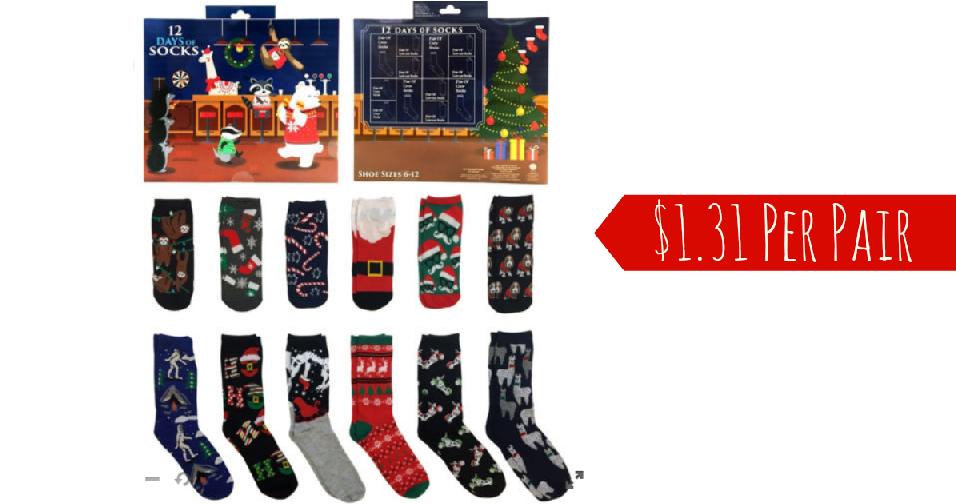 12 Days Of Christmas Socks.Jcpenney Code Novelty Christmas Socks For 1 31