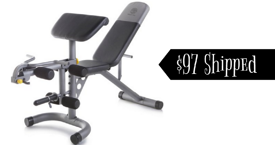 Pleasant Golds Gym Workout Bench For 97 Shipped Southern Savers Machost Co Dining Chair Design Ideas Machostcouk