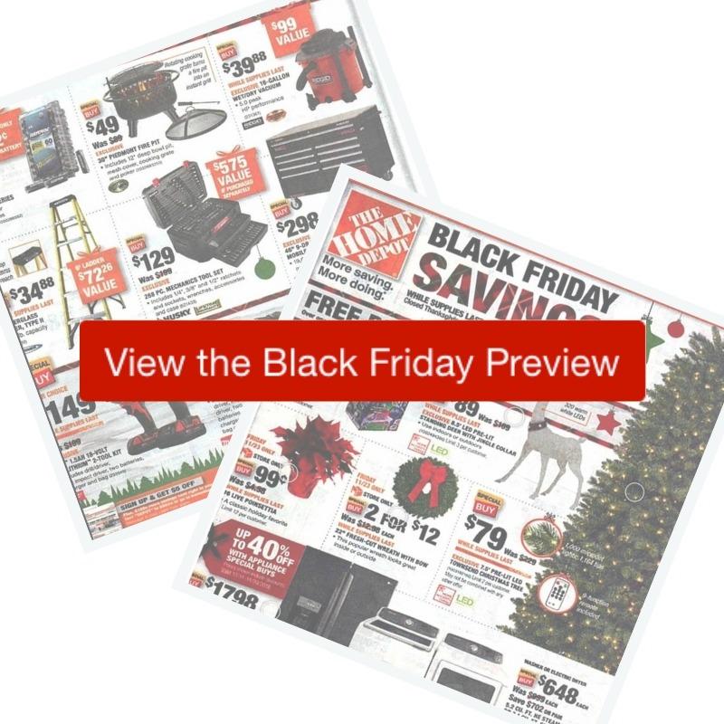 2018 home depot black friday ad southern savers. Black Bedroom Furniture Sets. Home Design Ideas