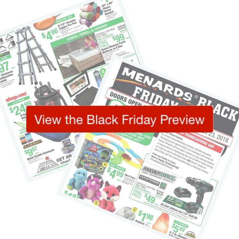 2018 Menards Black Friday Ad Southern Savers