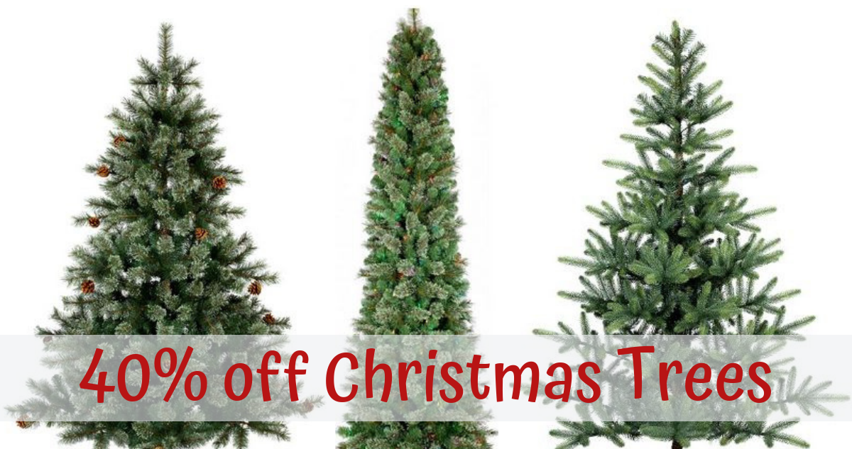 40% Off Artificial Christmas Trees
