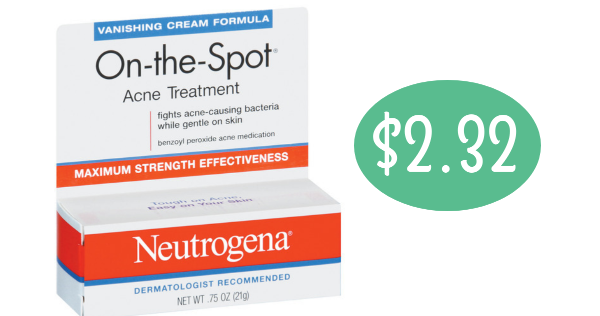 Target Deal Neutrogena Acne Treatment For 2 32 Southern Savers